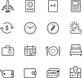 Travel Icons for application