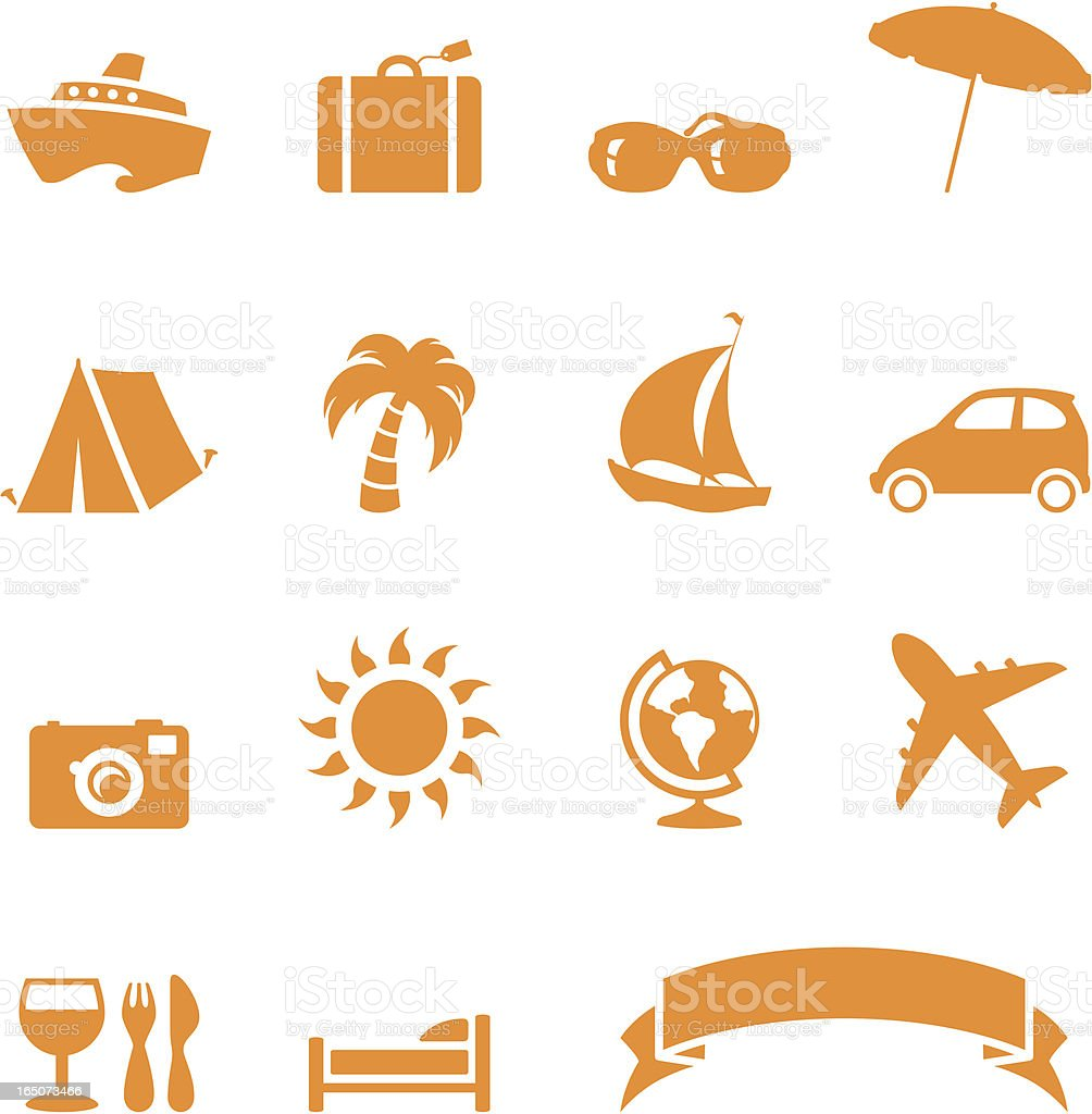 Travel Icons - incl. jpeg royalty-free stock vector art