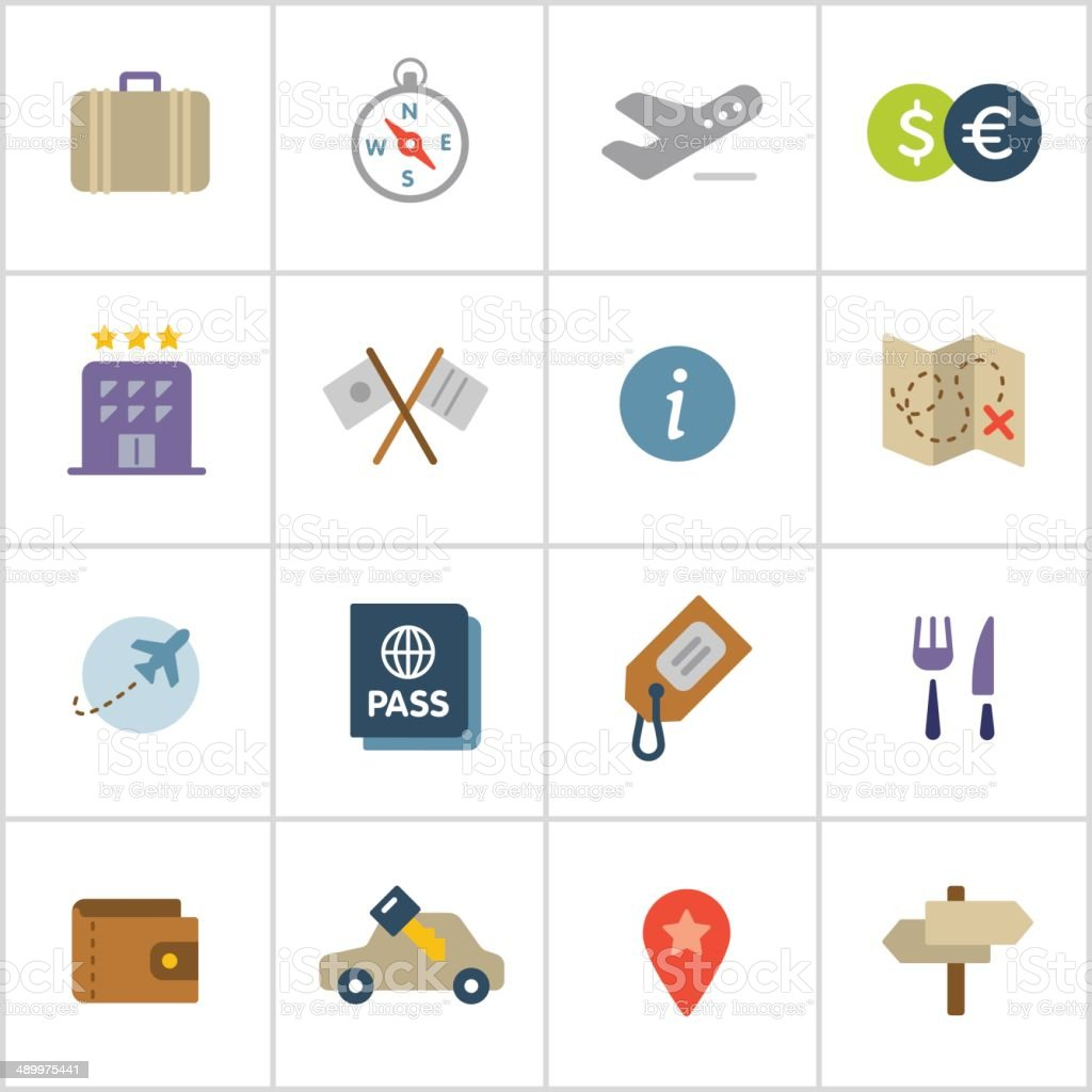 Travel Icons — Poly Series vector art illustration