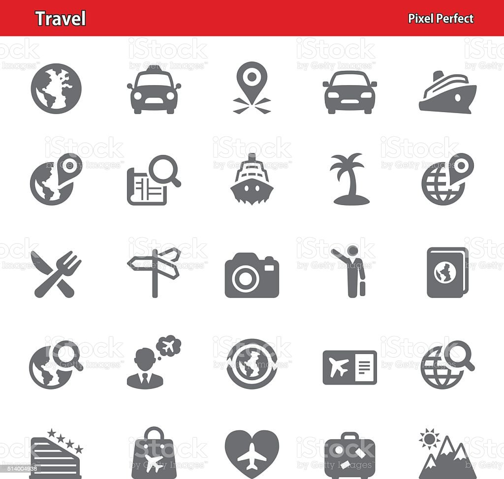 Travel Icons - Set 2 vector art illustration