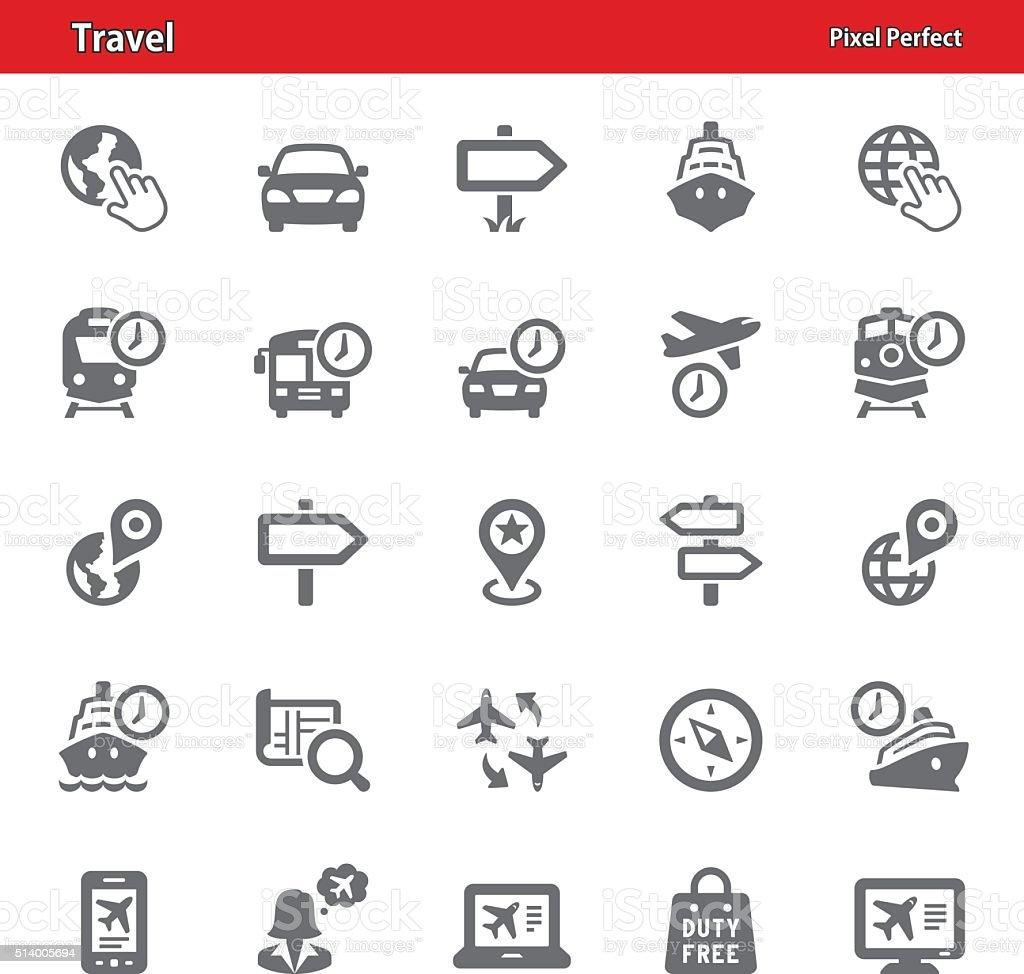 Travel Icons - Set 3 vector art illustration