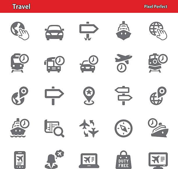 Voyage icônes-Set 3 - Illustration vectorielle