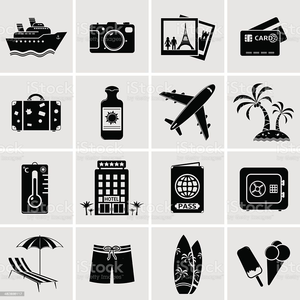 Travel icons set royalty-free travel icons set stock vector art & more images of adult