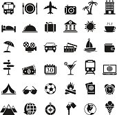 illustration of travel icons set for your design and products.