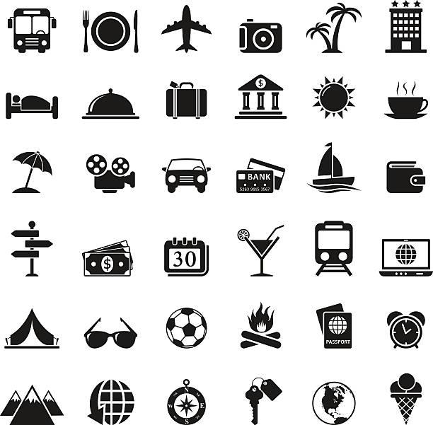 旅行のアイコンを設定します。 - 出張点のイラスト素材/クリップアート素材/マンガ素材/アイコン素材