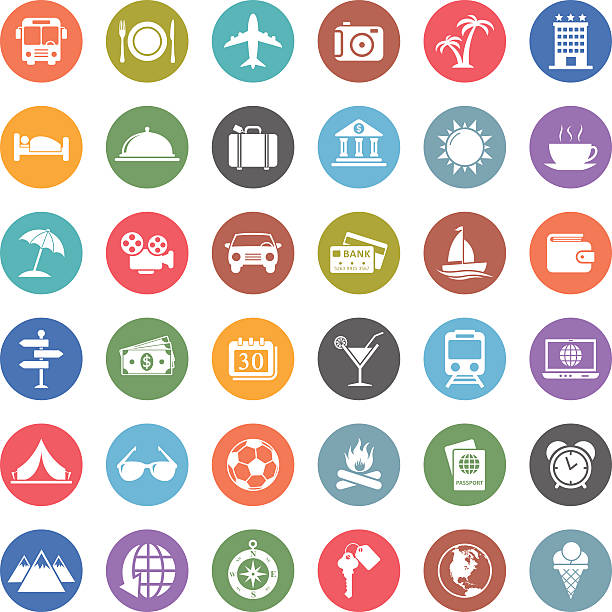 旅行のアイコン - トレーニングのカレンダー点のイラスト素材/クリップアート素材/マンガ素材/アイコン素材