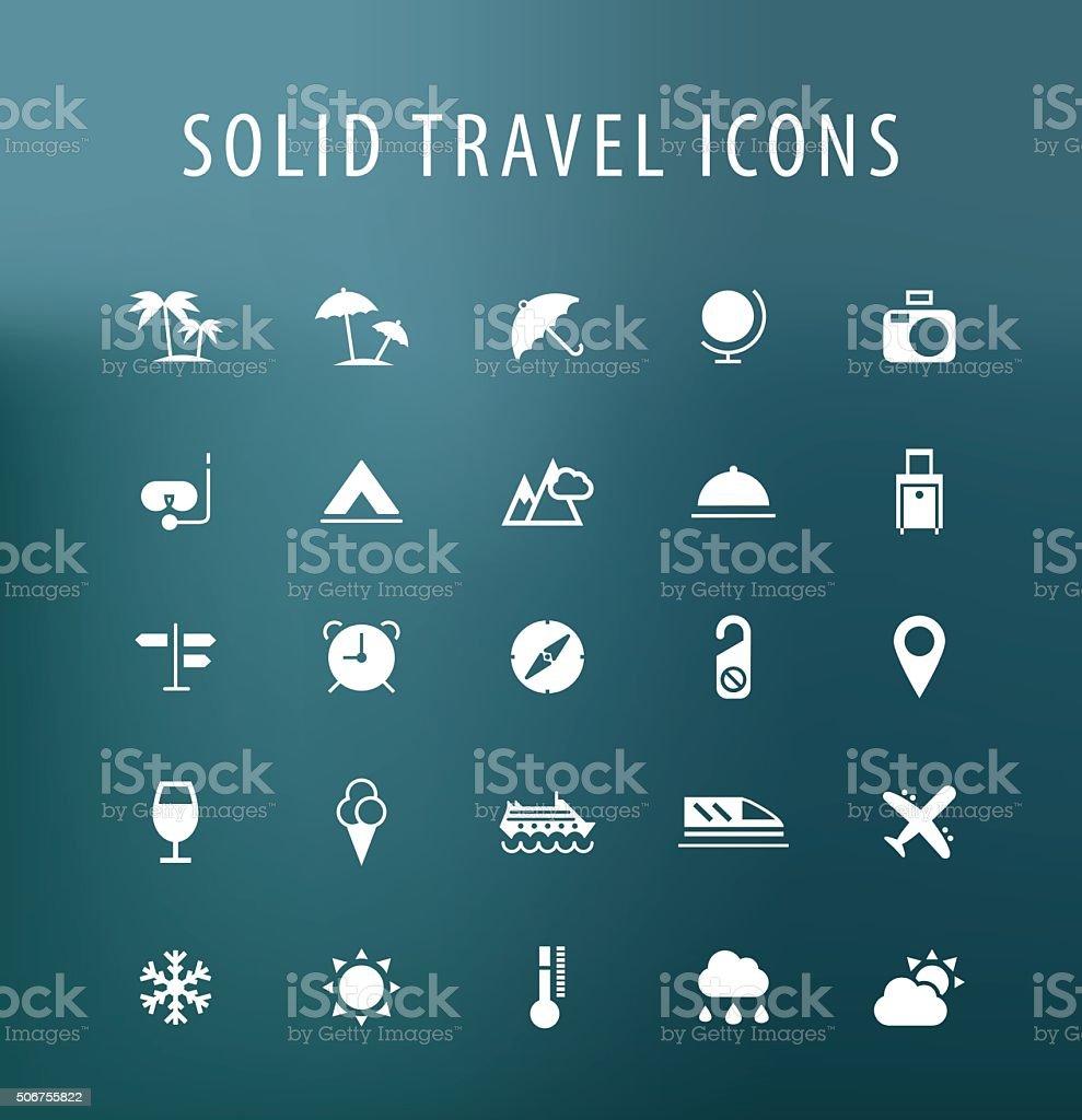 Travel Icons. vector art illustration