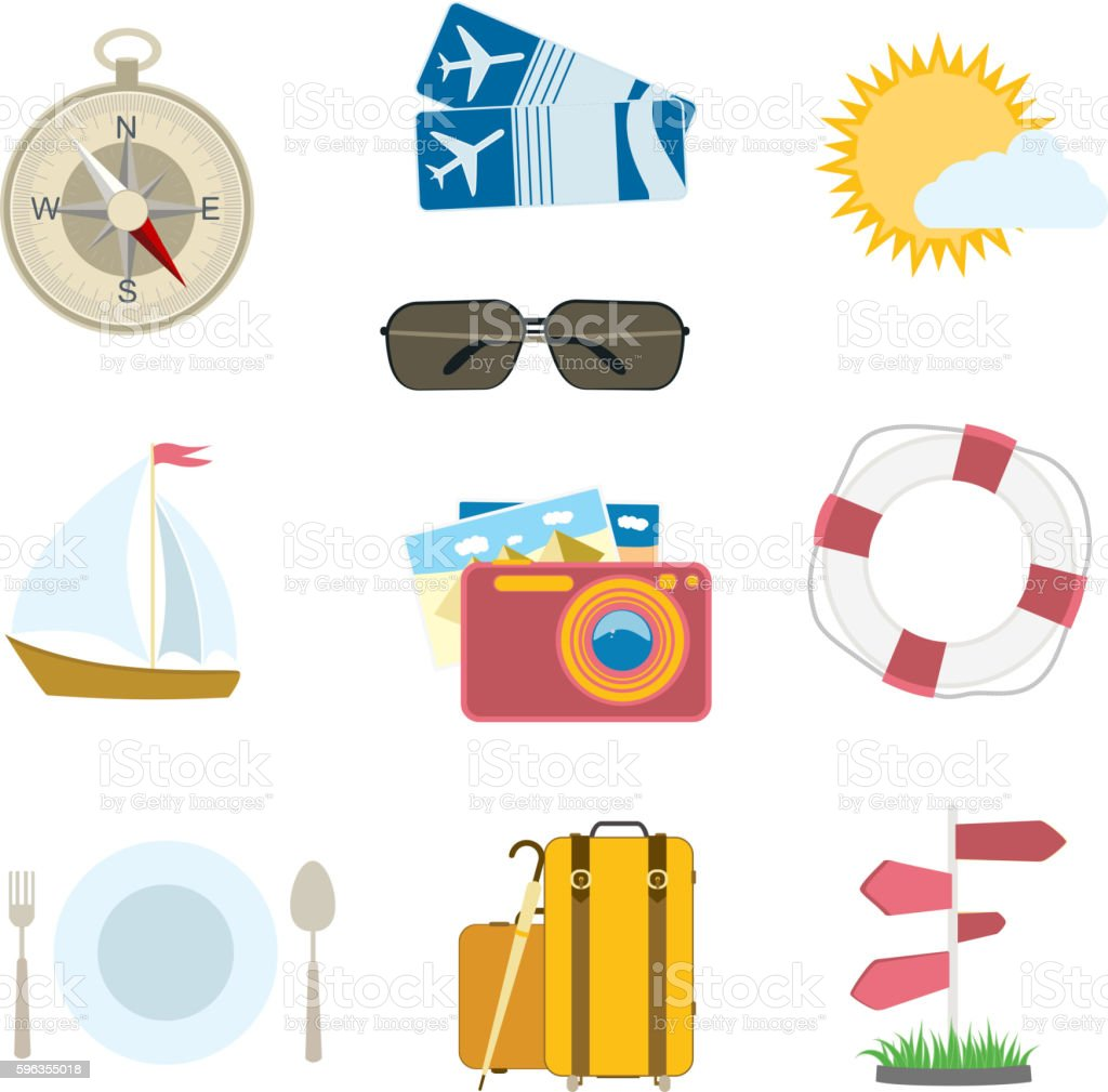 travel icons royalty-free travel icons stock vector art & more images of airplane