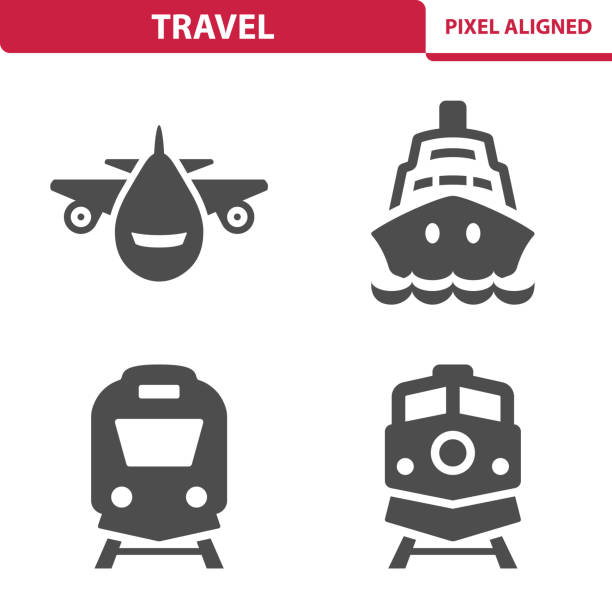 illustrations, cliparts, dessins animés et icônes de icônes de voyage - train