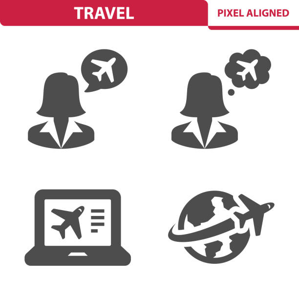 Icônes de voyage - Illustration vectorielle