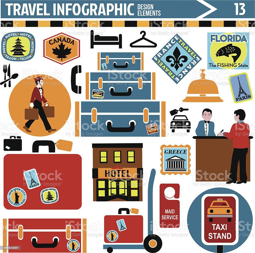 travel infographic design elements vector art illustration