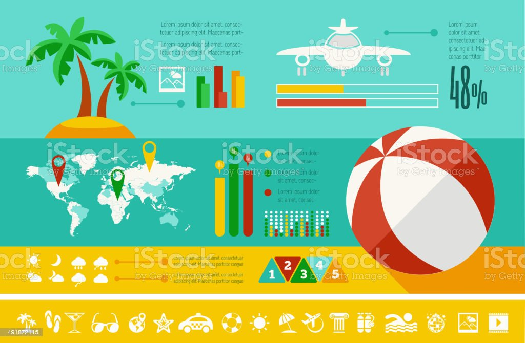 Travel Infographic Template. royalty-free stock vector art