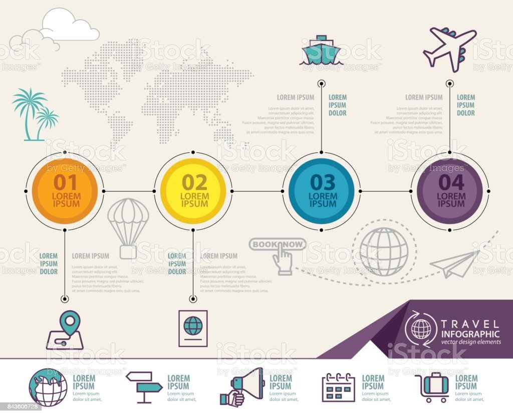 Travel infographic vector design. Infographic design template vector art illustration