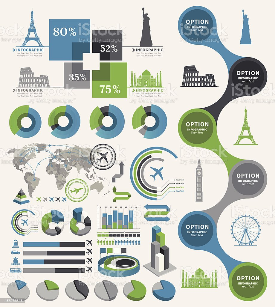 Travel Infographic vector art illustration