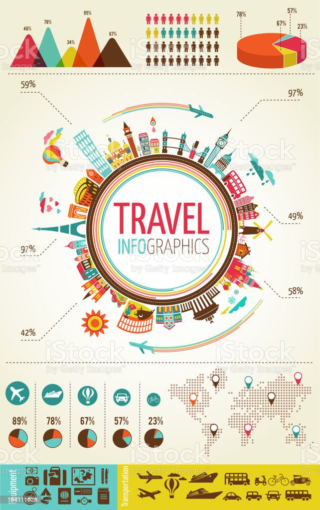 Travel infographics royalty-free travel infographics stock vector art & more images of airplane