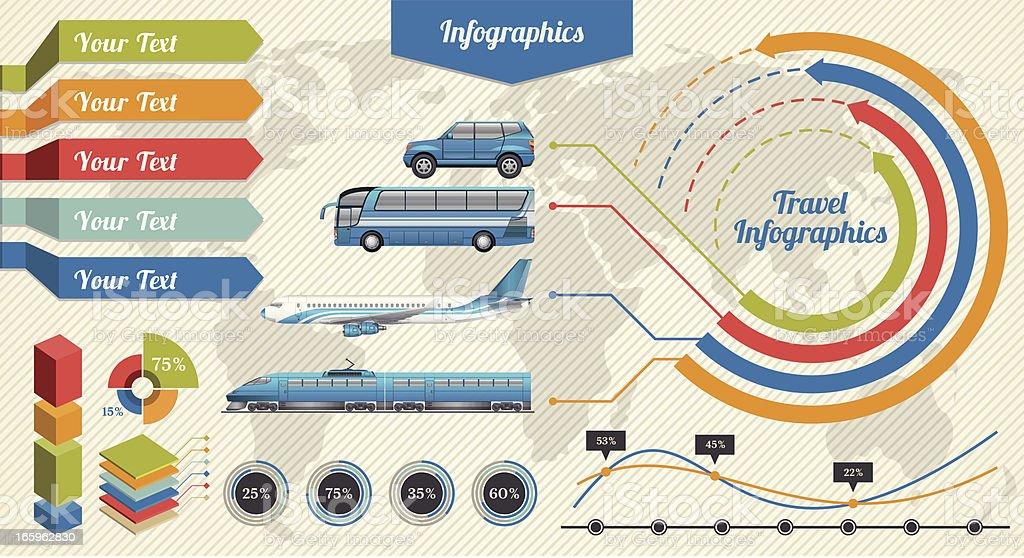 Infographie de voyage - Illustration vectorielle