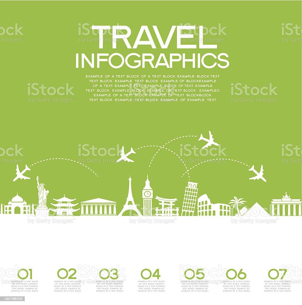 Infografías de viajes - ilustración de arte vectorial