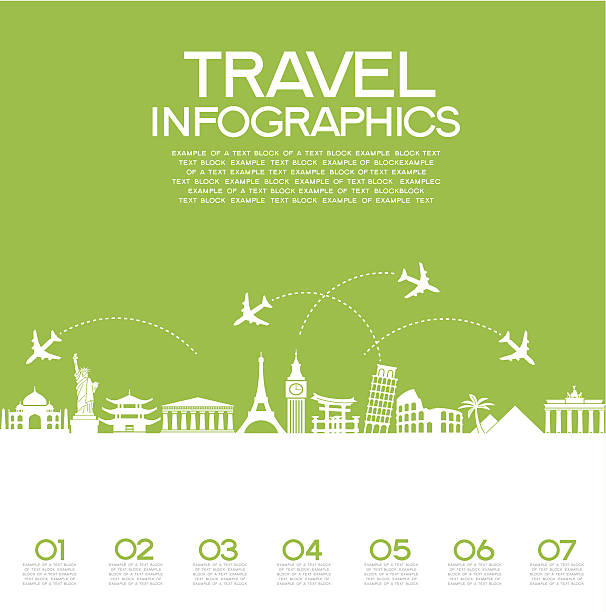travel infographics - business travel stock illustrations, clip art, cartoons, & icons