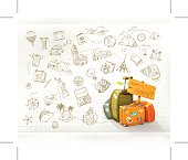 Travel infographics, eps10 vector illustration contains transparency and blending effects