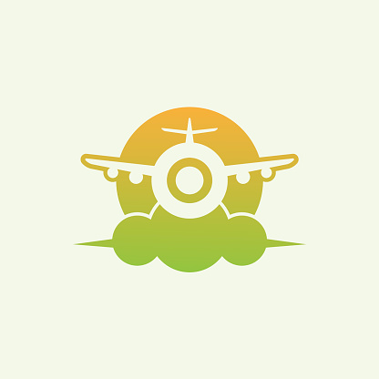 travel initial Letter O icon design