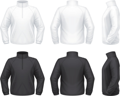 Vector illustration of a zip training travel jacket.