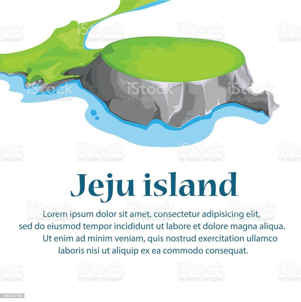 Travel Jeju Island, South Korea.illustration vector. royalty-free travel jeju island south koreaillustration vector stock vector art & more images of asia