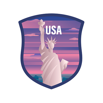 USA Travel Label