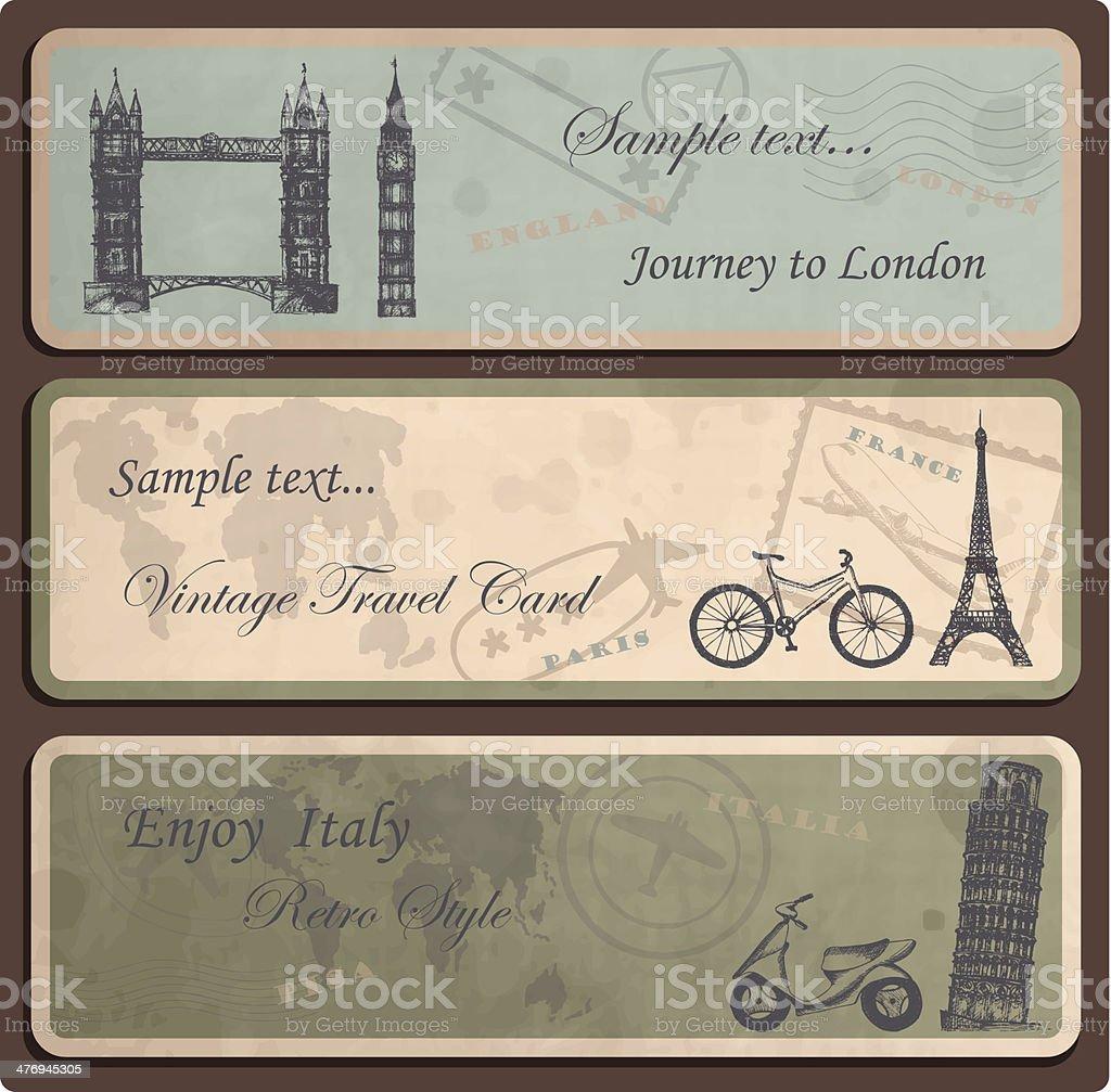 Travel labels vector art illustration
