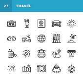 20 Travel Outline Icons.