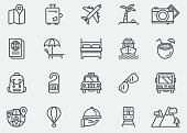 Travel Line Icons | EPS 10