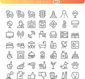 Travel Line Icons. Set 4
