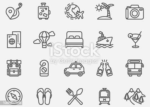 Travel Line Icons