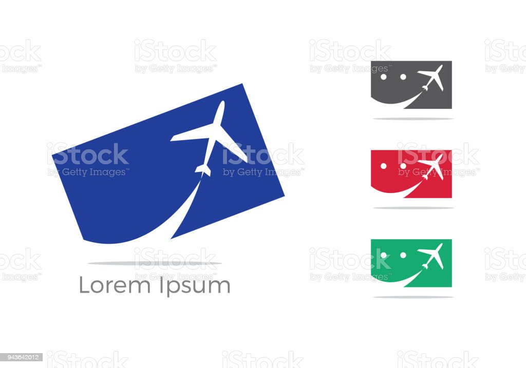 Travel logo design, Holiday bag and airplane icon, business trip, tourism, plane vector illustration. vector art illustration