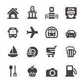 travel map location icon set, vector eps10.