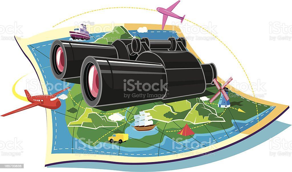 travel map royalty-free stock vector art