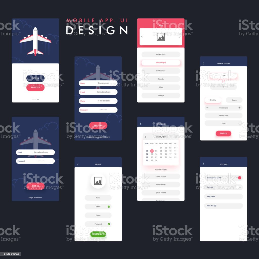Travel Mobile App Ui Ux Design With Sign In Register Home