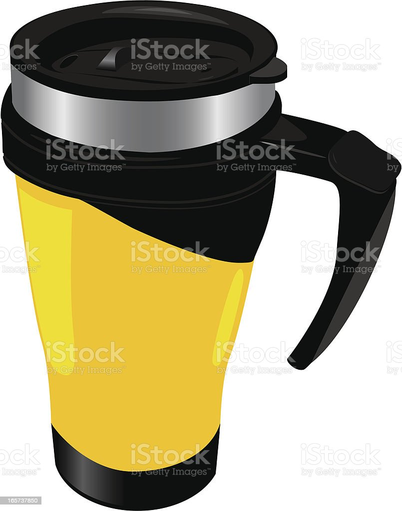 Travel mug royalty-free stock vector art