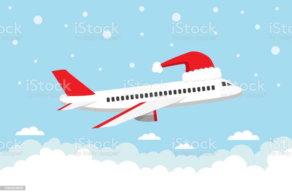 Путешествие на рождественские праздники - Векторная графика Авиакосмическая промышленность роялти-фри