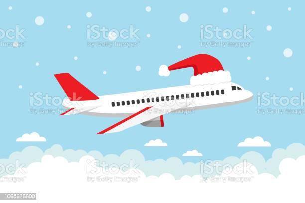 Путешествие На Рождественские Праздники — стоковая векторная графика и другие изображения на тему Авиакосмическая промышленность
