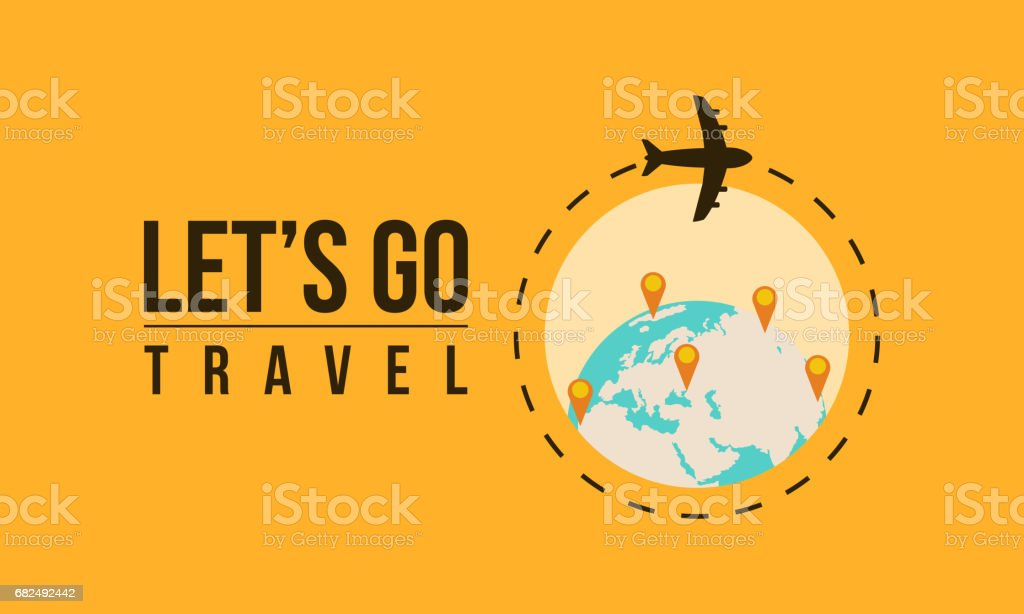 Travel on the world concept vector art illustration travel on the world concept vector art illustration - immagini vettoriali stock e altre immagini di aeroplano royalty-free