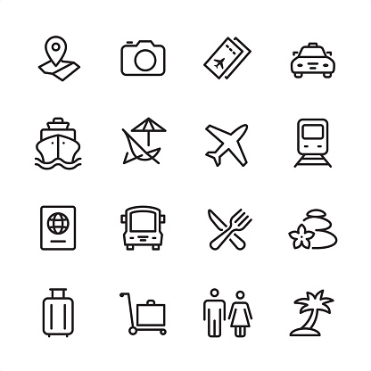 Travel - outline icon set