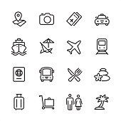 Travel - outline icon set