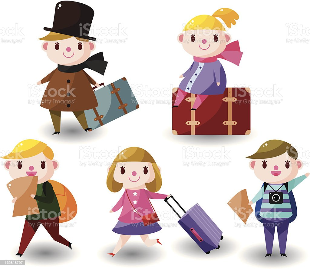 travel people royalty-free stock vector art