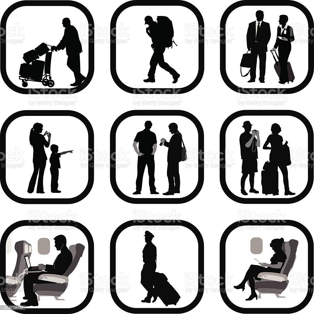 Travel People vector art illustration