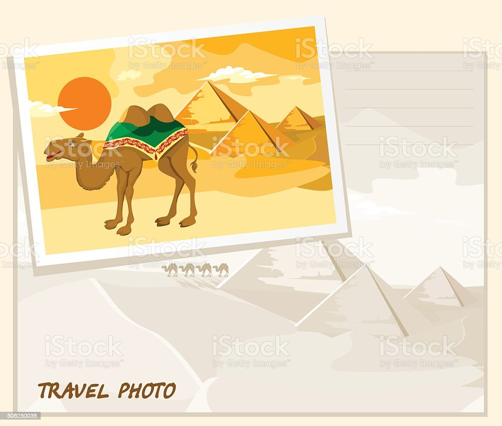 travel photo template vector art illustration