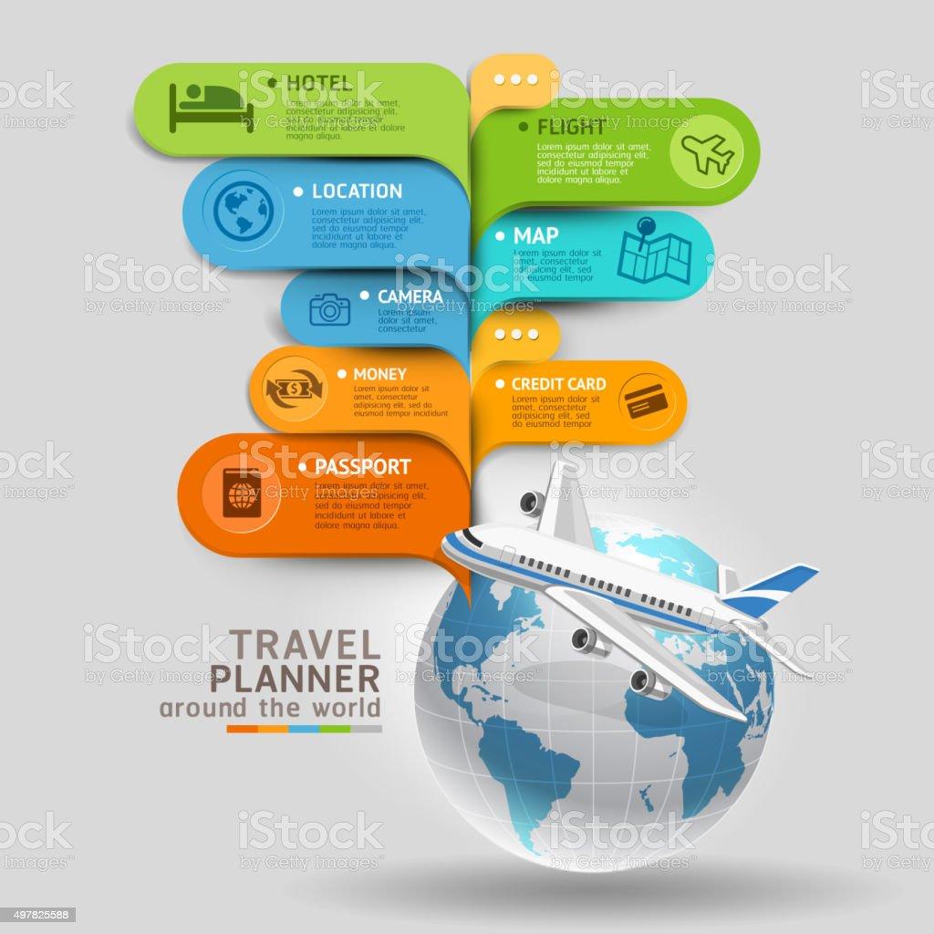 Reiseveranstalter auf der ganzen Welt. – Vektorgrafik