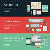 Travel Planning Vector Web Banner Set