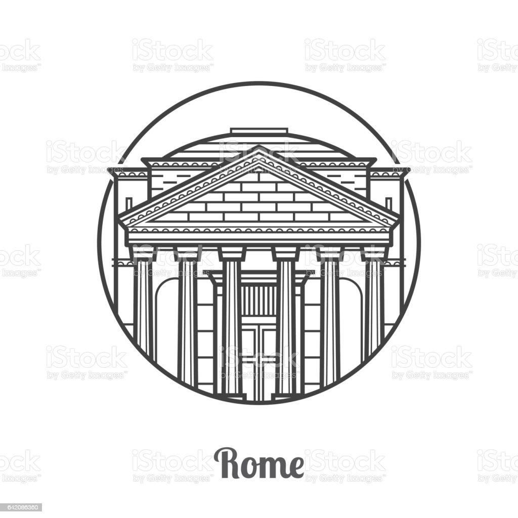 Travel Rome Icon vector art illustration