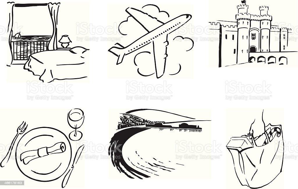 travel scenes vector art illustration