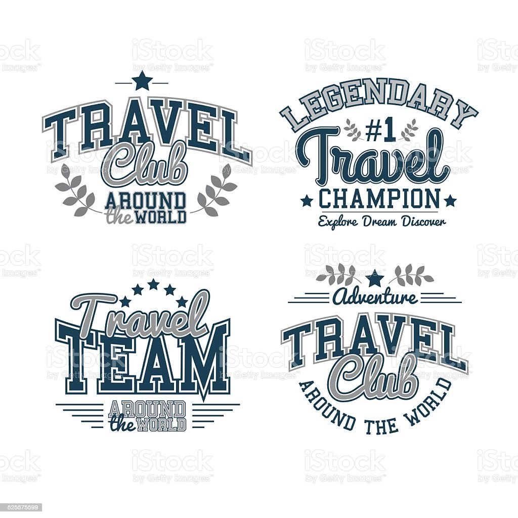 Travel Set vector art illustration